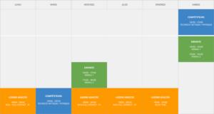 Planning toutes disciplines